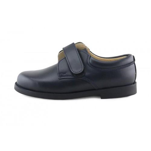 Zapato velcro piel azul 61NEW Jeromín