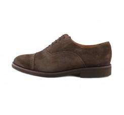 Zapato serraje marrón con cordón Jeromin