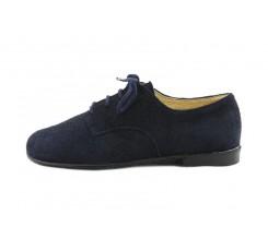 Zapato ante azul con cordón Ponti para Jeromin