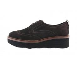 Zapato picado ante marrón con plataforma ondulada Jeromin