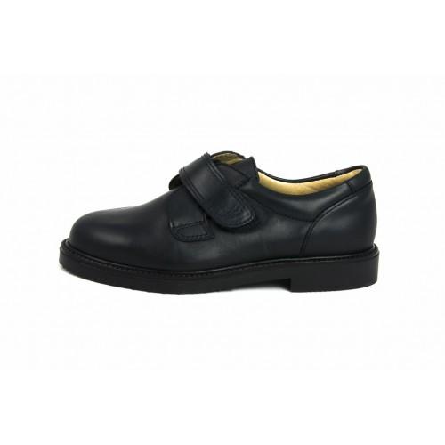 Zapato piel azul velcro JERO500 Jeromín