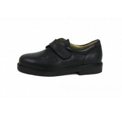 Zapato piel negro velcro JERO500 Jeromín