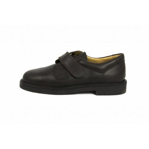 Zapato piel marrón velcro JERO500 Jeromín