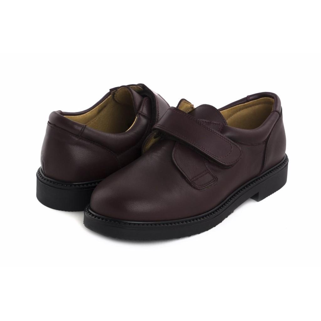 Zapato velcro piel burdeos JERO500 Jeromín