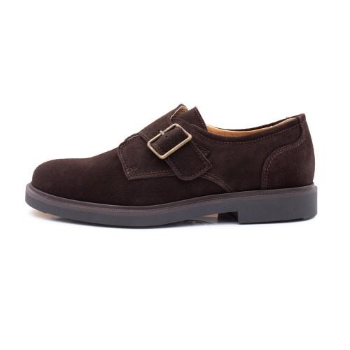 Zapato ingles ante marrón con hebilla Jeromín