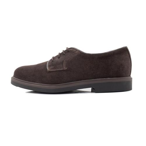 Zapato ingles ante marrón con cordón Jeromín