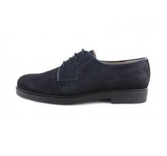 Zapato ingles ante azul con cordón Jeromín