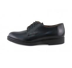 Zapato ingles piel azul con cordón Jeromín
