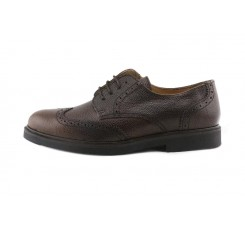 Zapato ingles  picado marrón con cordón Jeromín