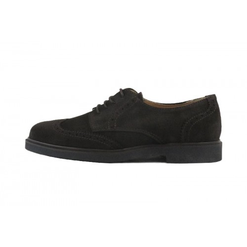 Zapato ingles ante picado marrón con cordón Jeromín