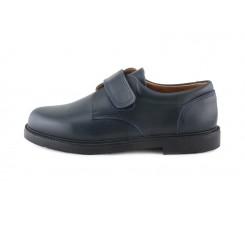 Zapato piel azul velcro N610-New Jeromín