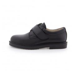 Zapato velcro piel negro URBAVEL Jeromín