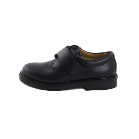 Zapato velcro piel azul URBAVEL Jeromín