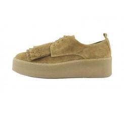 Zapato ante cuero con lengueta y plataforma 220V